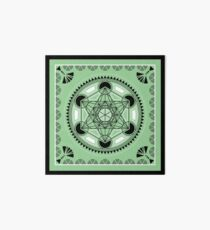 SACRED GEOMETRY - METATRONS CUBE - FLOWER OF LIFE - SPIRITUALITY Art Board