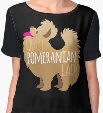 Crazy Pomeranian (Dog) Lady Chiffon Top