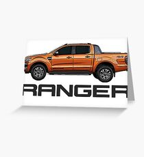 Ford Ranger and Logo Greeting Card