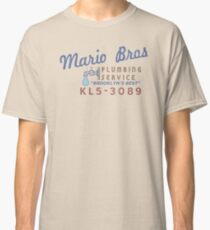 Mario Brothers Plumbing Service Classic T-Shirt