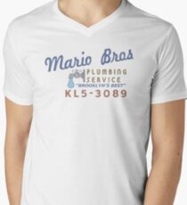 Mario Brothers Plumbing Service Men's V-Neck T-Shirt