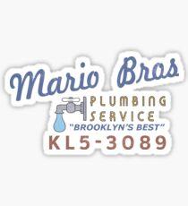 Mario Brothers Plumbing Service Sticker