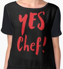YES CHEF! Chiffon Top