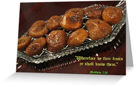 By their fruits ye shall know them by Kathryn Jones