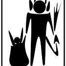 Krampus Bathroom Pictogram by CodenameSailorE