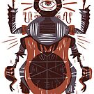 Eye of the Gods - Beetle Three - red by Pam Wishbow