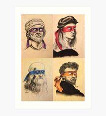 TMNT as Real Masters Art Print