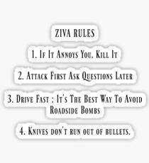 Ziva Rules Sticker
