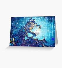 Mural Graffiti  Witchery  Greeting Card