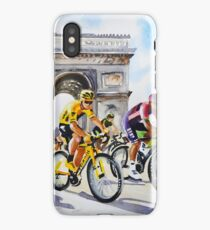Froome in Yellow TDf 2016 Stage 21 iPhone Case/Skin