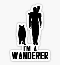 I'm A Wanderer (Black) Sticker