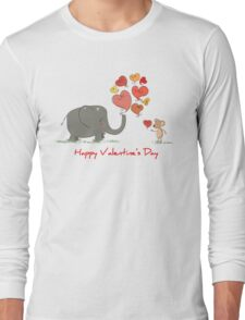 Elephant and Mouse Story of Love Valentine 2017 T-Shirt Long Sleeve T-Shirt