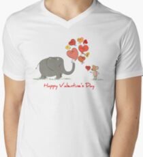 Elephant and Mouse Story of Love Valentine 2017 T-Shirt T-Shirt
