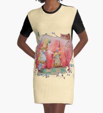 Alice in Worderland, opening the small door fanart Graphic T-Shirt Dress