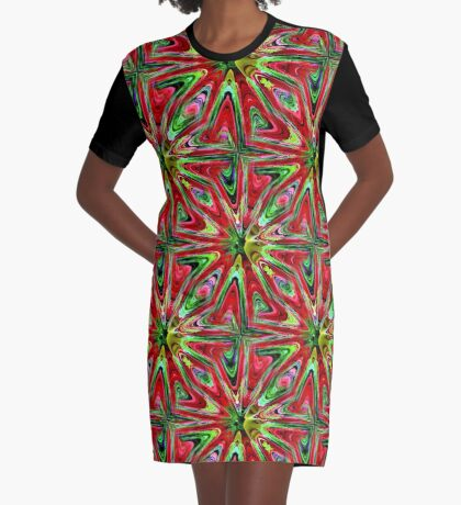 Abstract Color Confusion Graphic T-Shirt Dress