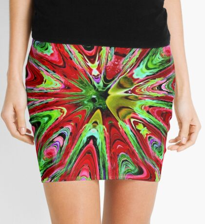 Abstract Color Confusion Mini Skirt