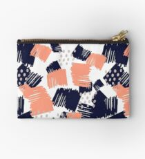 Buffer // Abstract Scribble Pattern Pink Studio Pouch