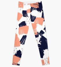 Buffer // Abstract Scribble Pattern Pink Leggings