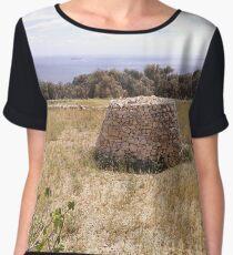 Maltese Stone Hut Chiffon Top
