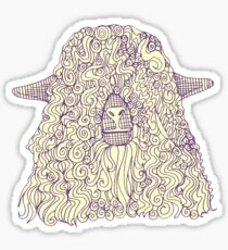just goats purple cream Sticker