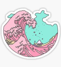 Pastel Waves Sticker