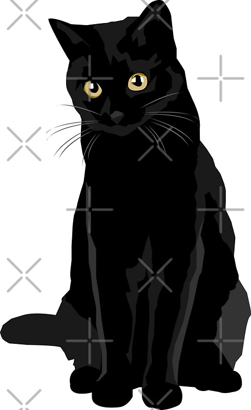 Quot Black Cat Quot Stickers By Bluhak Redbubble