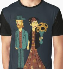 Love is Art Frida Kahlo and Van Gogh Graphic T-Shirt