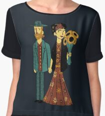 Love is Art Frida Kahlo and Van Gogh Chiffon Top
