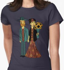 Love is Art Frida Kahlo and Van Gogh Women's Fitted T-Shirt