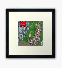 RPG Map Framed Print