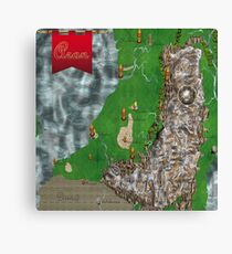 RPG Map Canvas Print