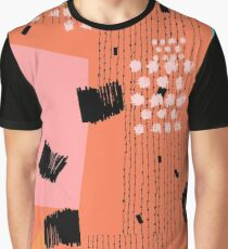 Clementine // Abstract Scribble Retro Graphic T-Shirt