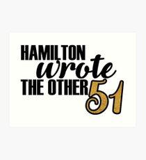 Hamilton 51 Essays Art Print