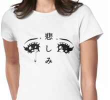 Anime Eyes Womens Fitted T-Shirt