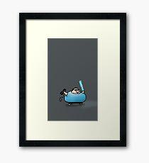 Boogie Warrior Pixels Framed Print
