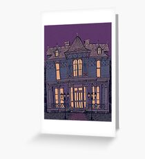 Victorian Mansion Greeting Card