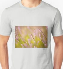 Soft focus of pink heather macro Unisex T-Shirt