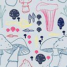 mushrooms by Tessa  Rath