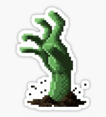 Zombie Grasp Pixels Sticker