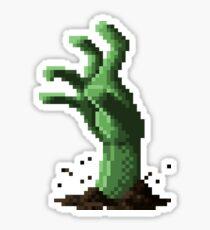 Zombie Grasp Pixels Sticker