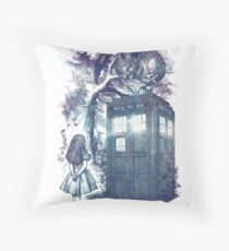 WHO is in wonderland Throw Pillow
