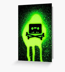 Cassette Tape and Bones Greeting Card