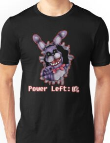FIVE NIGHTS AT FREDDY'S-Bonnie- Power Left 0% Unisex T-Shirt