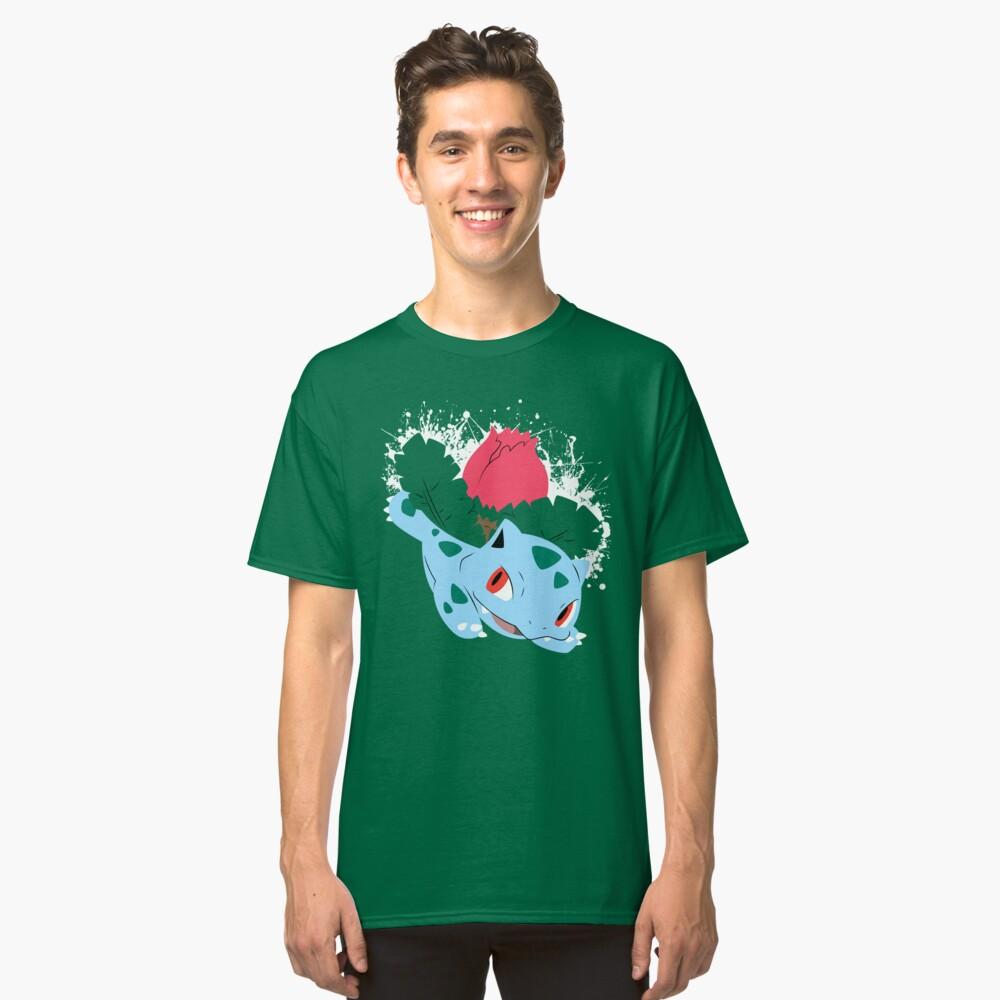 Ivysaur Splatter Classic T-Shirt Front