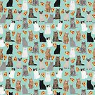 Pizza Cats pattern gift for cat lover pet friendly custom pet designs by PetFriendly