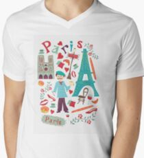 Cute symbols from Paris Men's V-Neck T-Shirt