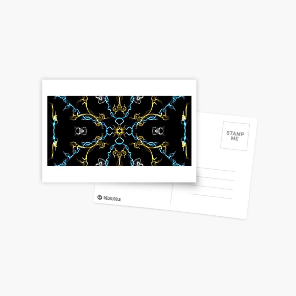 Blue and Yello Postkarte