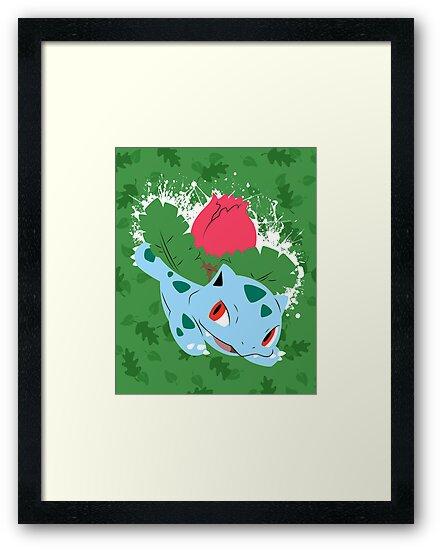Ivysaur Splatter by adhpv
