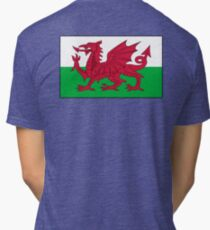 WALES, Welsh, Cymru, Welsh Flag, Pure & simple. Red Dragon of Wales Tri-blend T-Shirt