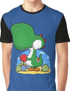 Wooly Egg Chucking Dinosaur Graphic T-Shirt